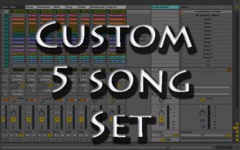 backing tracks Custom 5 song
